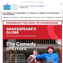 "[SISTIC] ""A Brilliant Performance!"" Book Now for Shakespeare's Globe THE COMEDY OF ERRORS"