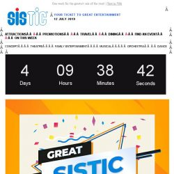 [SISTIC] Countdown to the Great SISTIC Sale starts now ⚡