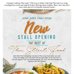 [BreadTalk] New stall opening and 20% off selected Thai Signature Noodle Dishes!