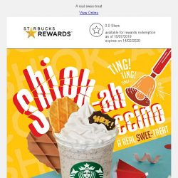 [Starbucks] Celebrate our little red dot with Shiok-ah-ccino and very shiok food