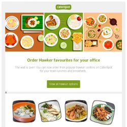 [CaterSpot] New! You can now order hawker meals for the office on CaterSpot