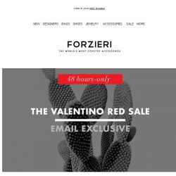 [Forzieri] 48h only | The Valentino Red Event | Extra 10% Off