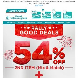 [Watsons] Celebrate SG 🎂 with our Rally Good Deals!