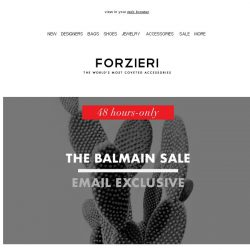 [Forzieri] 48h only | The Balmain Event | Extra 10% Off