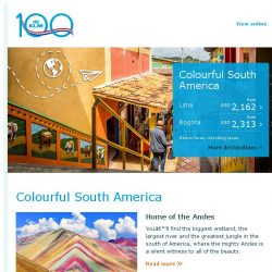 [KLM] Colourful South America will conquer your heart