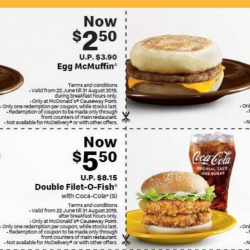 McDonald's: Flash These Exclusive E-Coupons at Causeway Point Outlet to Save Up to $4.45!