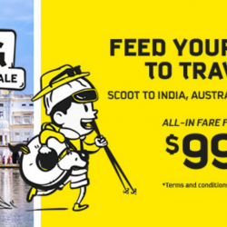 Scoot: GTG Sale with All-In Fares from SGD99 to India, Australia & Europe!