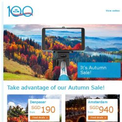 [KLM] The best autumn destinations from SGD 730!