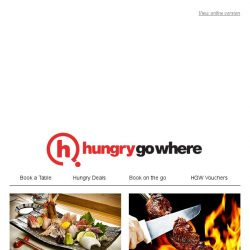[HungryGoWhere] 1-for-1 buffets, 50% off meals and more great dining deals