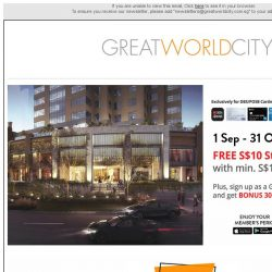 [Great World City]  September Specials at Great World City!