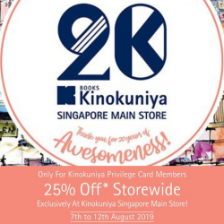 Kinokuniya: Members Enjoy 25% OFF Storewide at Kinokuniya Singapore Main Store!