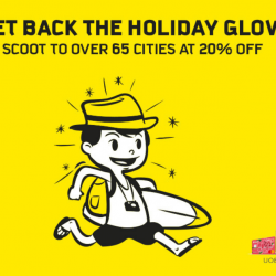 Scoot: Fly to Over 65 Cities at 20% OFF with UOB Cards!