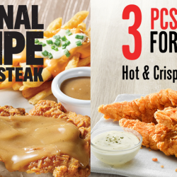 KFC: NEW Original Recipe Chicken Steak & $1 PayLah! Offer for 3 Pcs Tenders