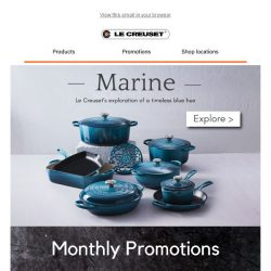 [Le Creuset] NEW! Featuring Marine, our new Fish Dishes and more