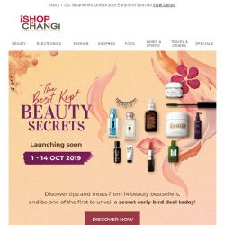 [iShopChangi] ❗️The Secret's Out❗️ Indulge in Beauty Bestsellers and Treats 💄🎁