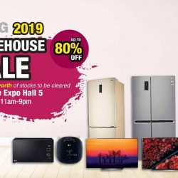 LG: Warehouse Sale 2019 with Up to 80% OFF Electronics Products & Kitchen Appliances