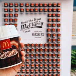 McDonald's: Get a FREE Hershey's McFlurry® at 3 Selected Bus Stops!