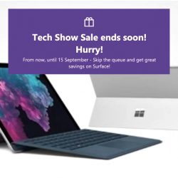 Microsoft Online Store: Tech Show Sale with Up to SGD308 OFF Surface Bundles!