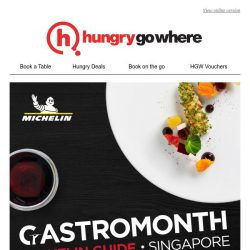 [HungryGoWhere] Dine at MICHELIN-recommended restaurants starting from $30!