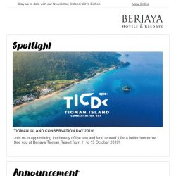 [Berjaya Hotels & Resorts EDm] OMG It's October, time to plan for holidays!