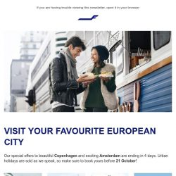 [Finnair] Final chance to book your European adventure