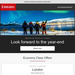 [Emirates] Let winter lift your spirits. Fares from SGD 979*