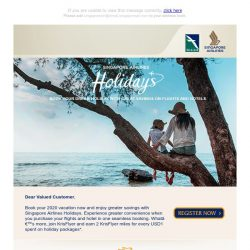 [Singapore Airlines] Enjoy irresistible package deals to exciting destinations