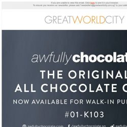 [Great World City]  Awfully Chocolate Cakes and Truffles Now Available at Great World City Store