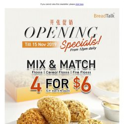 [BreadTalk] NOW OPEN AT PLQ MALL!