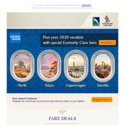 [Singapore Airlines] Last chance to enjoy these special fares