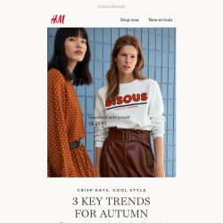 [H&M] 3 key trends for autumn
