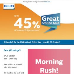 [PHILIPS] , 3 days left to enjoy up to 45% off storewide!