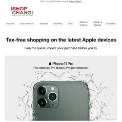 [iShopChangi] Midnight Green or Space Grey? Bestseller iPhone 11 Pro is back in stock.