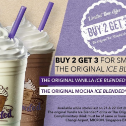 The Coffee Bean & Tea Leaf: Buy 2 Get 3 Promotion for The Original Vanilla Ice Blended Drink or The Original Mocha Ice Blended Drink!