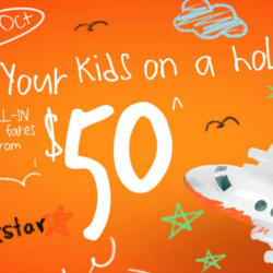 Jetstar: Kids Holiday Sale with All-In Sale Fares from $50 to Taipei, Penang, Bangkok & More!
