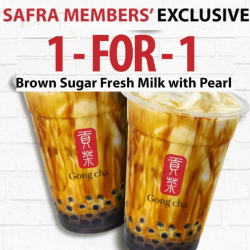 SAFRA: Members Enjoy 1-for-1 Brown Sugar Fresh Milk with Pearl at Gong Cha!