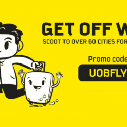 Scoot: Fly to Over 60 Cities for Up to 30% OFF with UOB Cards!