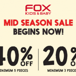 FOX Kids & Baby: Mid Season Sale with Up to 40% OFF Children's Wear!