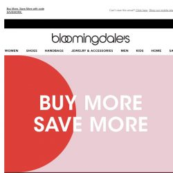 [Bloomingdales] Take up to 30% off throughout the site