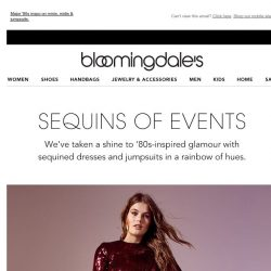 [Bloomingdales] New sequined dresses & jumpsuits: Go glam or go home