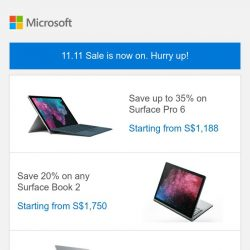 [Microsoft Store] 11.11 Sale is now on. Save up to 35%