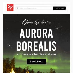 [Kaligo] , enjoy up to 8,943 miles with these Northern Lights destinations!