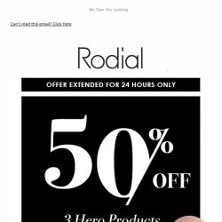 [RODIAL] 50% Off Three Hero Products