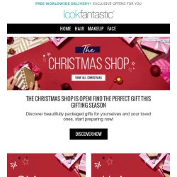 [lookfantastic] Christmas came early!   Find your Gifts today 🎅🌟