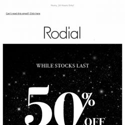 [RODIAL] Black Friday   50% Off Selected Lines 🖤