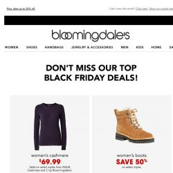 [Bloomingdales] Don't miss our top deals throughout the site