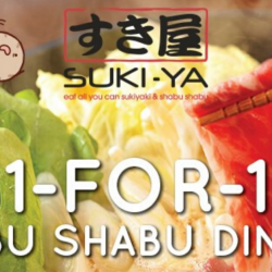 Suki-Ya: Enjoy 1-for-1 All You Can Eat Shabu Shabu Dinner at Bugis+!