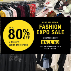 Wing Tai Retail: Fashion Expo Sale with Up to 80% OFF Adidas, G2000, FOX Kids & Baby, Topshop & More!