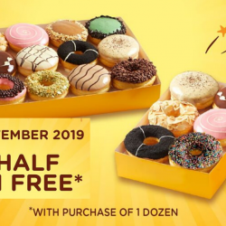 J.CO Donuts & Coffee: Buy 1 Dozen Donuts and Get Half Dozen FREE!