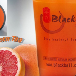 BlackBall: Enjoy a Grapefruit Green Tea at only $2 (UP $3.50)!